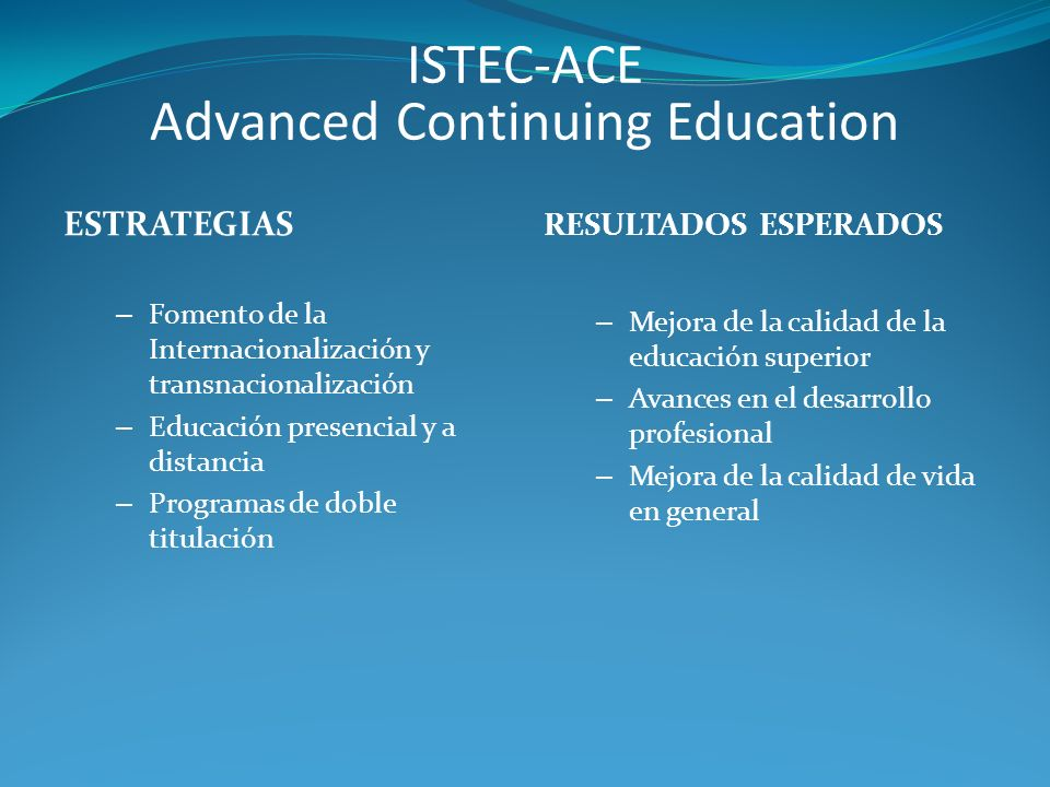 Advanced Continuing Education