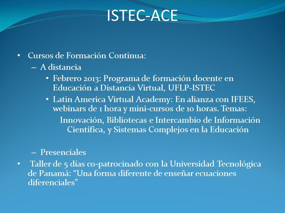 ISTEC-ACE Cursos de Formación Continua: A distancia