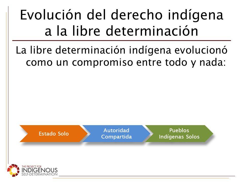 Evolución del derecho indígena a la libre determinación