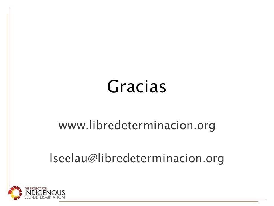 www.libredeterminacion.org lseelau@libredeterminacion.org