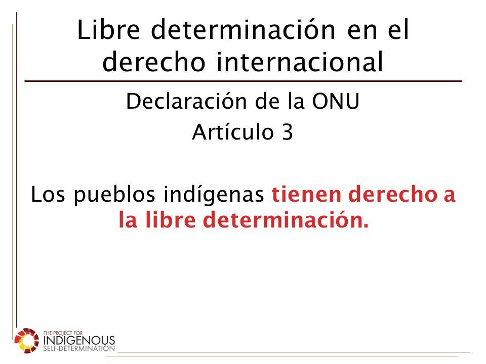 Libre determinación en el derecho internacional