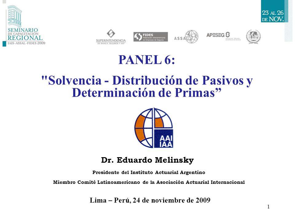 Solvencia - Distribución de Pasivos y Determinación de Primas