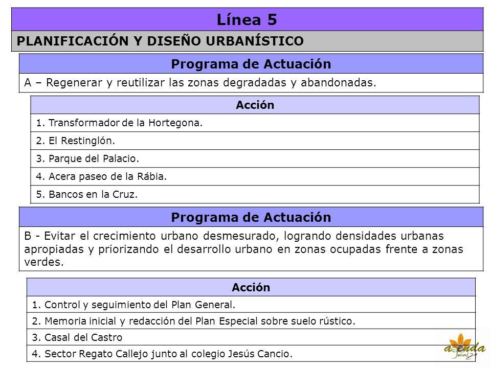 Línea 5 PLANIFICACIÓN Y DISEÑO URBANÍSTICO Programa de Actuación