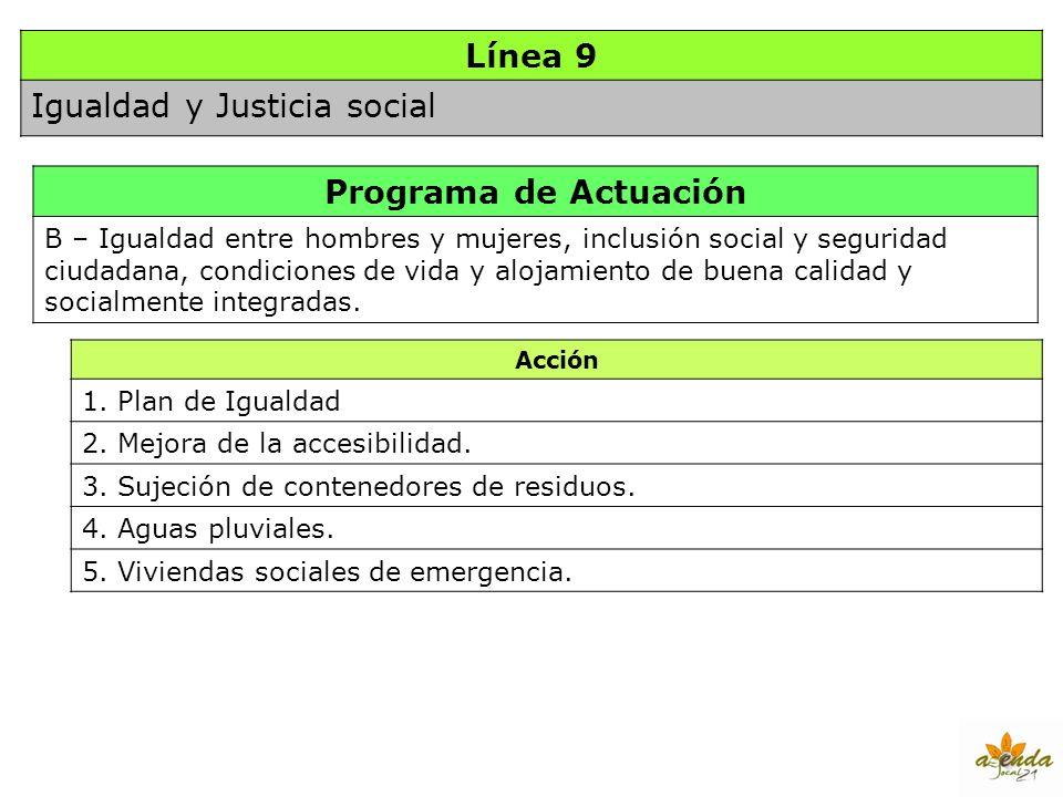 Línea 9 Programa de Actuación