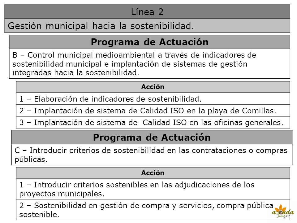 Programa de Actuación Programa de Actuación