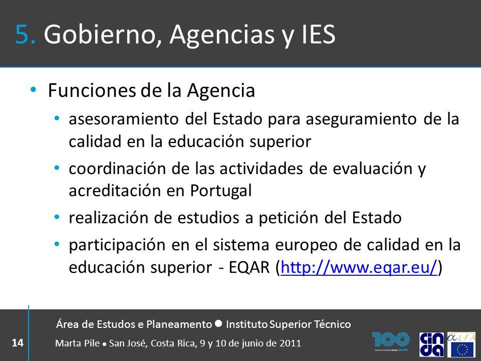 5. Gobierno, Agencias y IES