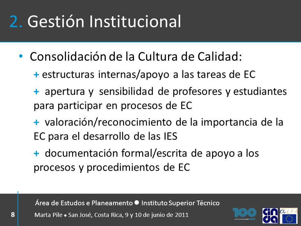 2. Gestión Institucional
