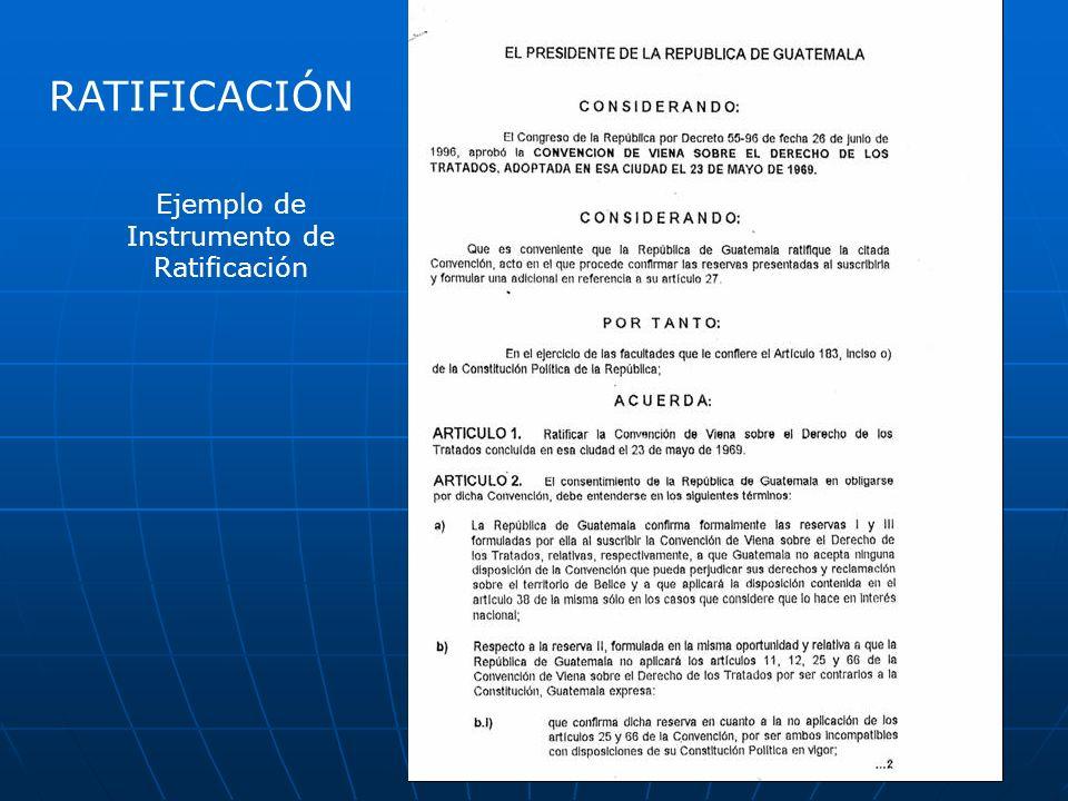Ejemplo de Instrumento de Ratificación