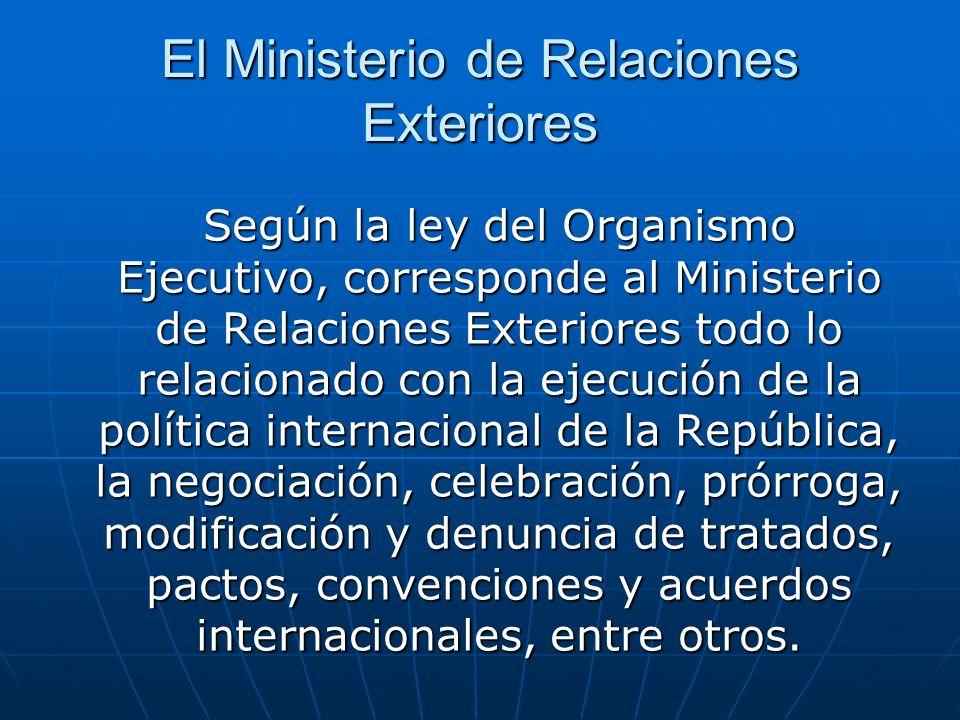 El Ministerio de Relaciones Exteriores