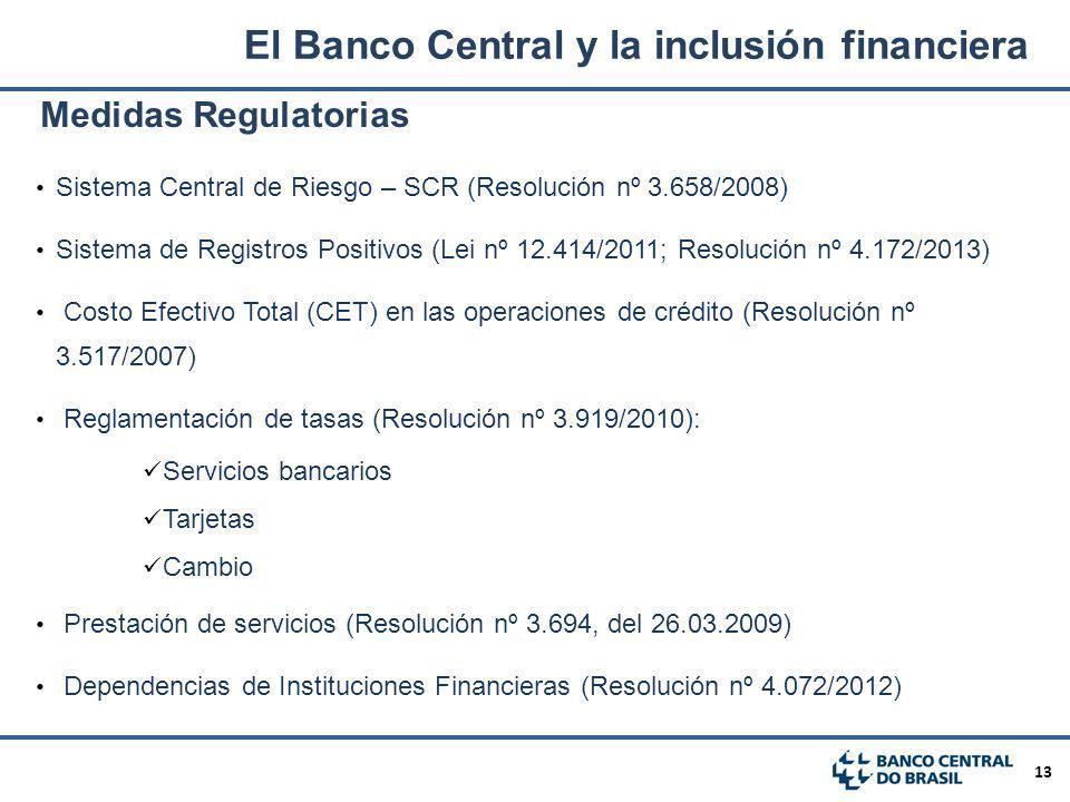 El Banco Central y la inclusión financiera