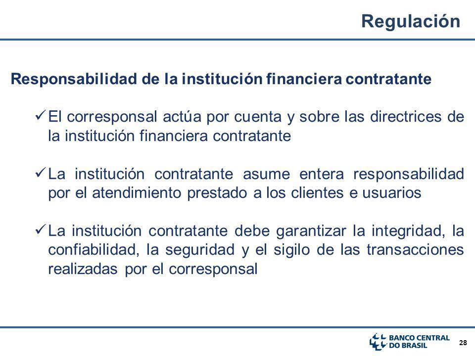 Regulación Responsabilidad de la institución financiera contratante
