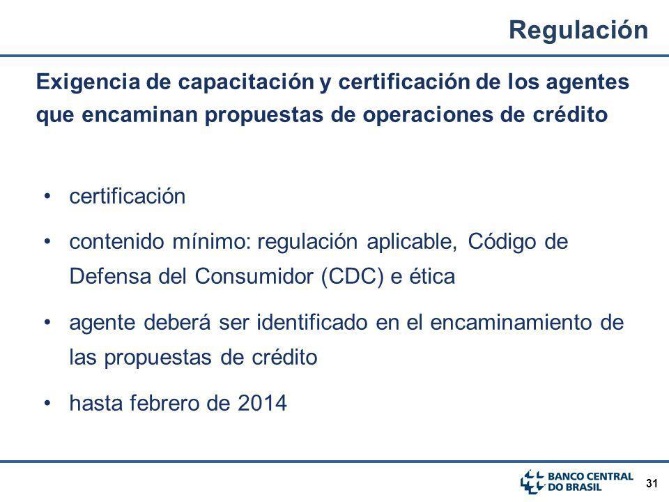 Regulación Exigencia de capacitación y certificación de los agentes que encaminan propuestas de operaciones de crédito.