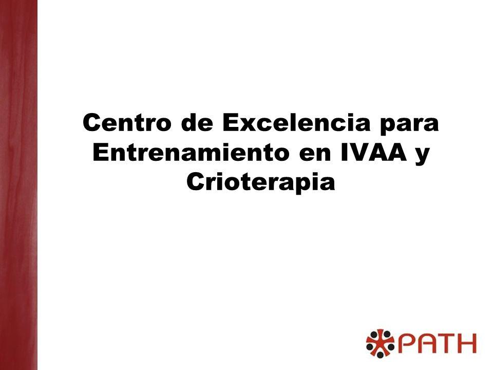 Centro de Excelencia para Entrenamiento en IVAA y Crioterapia
