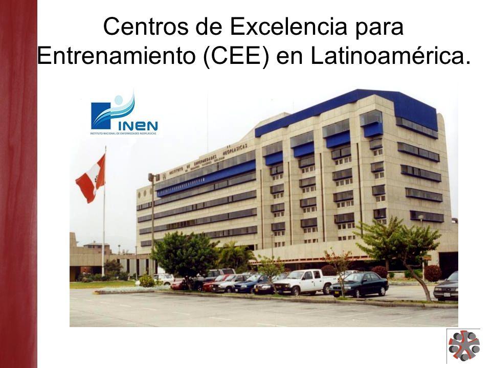 Centros de Excelencia para Entrenamiento (CEE) en Latinoamérica.