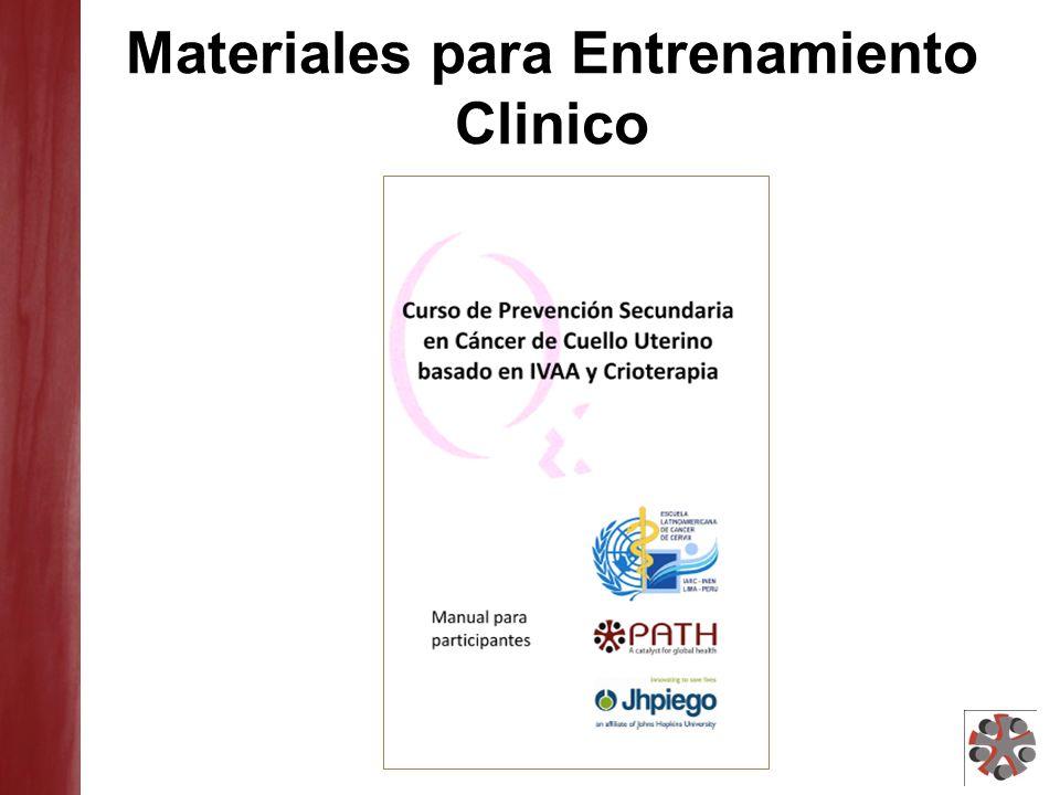 Materiales para Entrenamiento Clinico