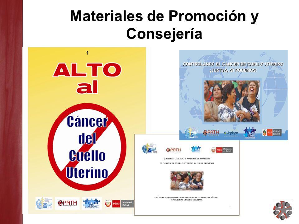 Materiales de Promoción y Consejería