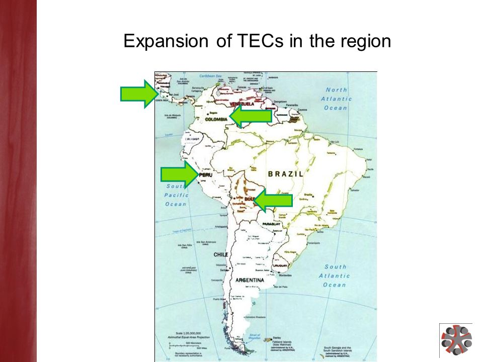 Expansion of TECs in the region