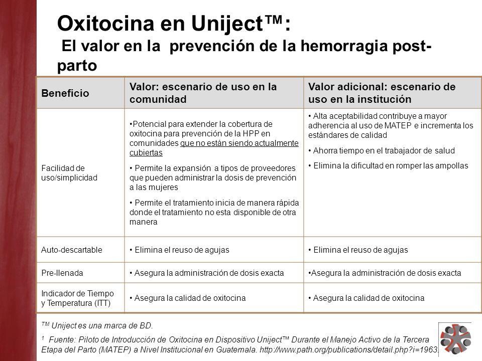 Oxitocina en Uniject™: El valor en la prevención de la hemorragia post-parto