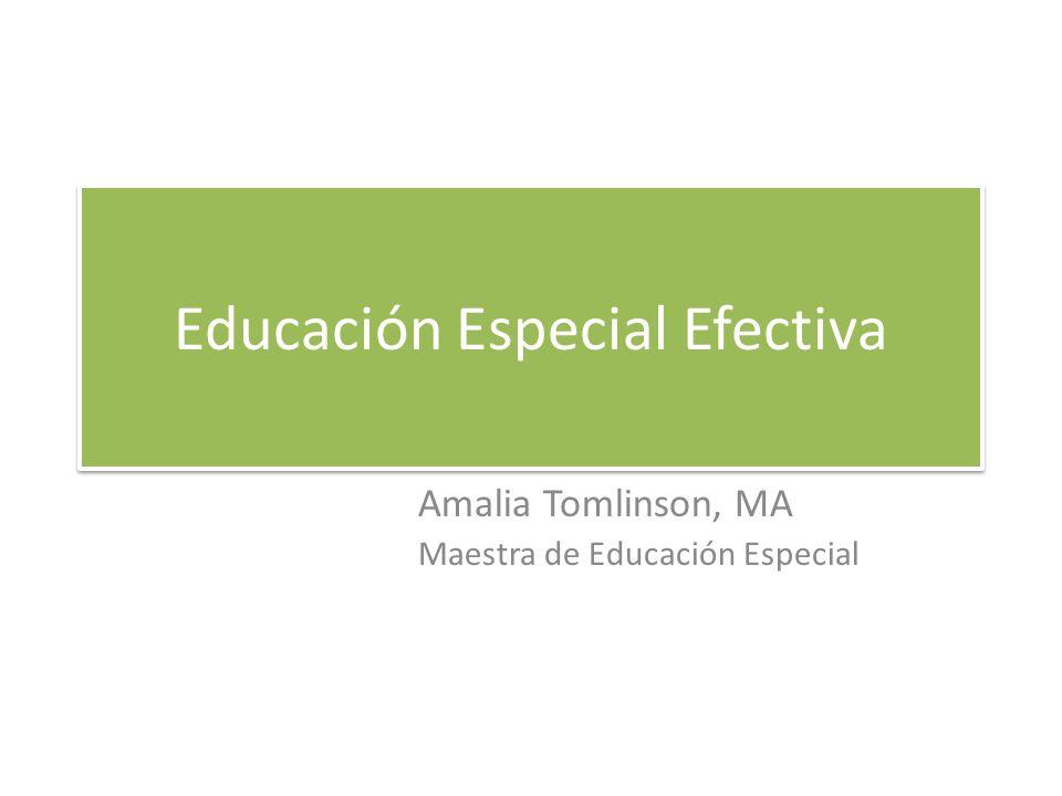 Educación Especial Efectiva
