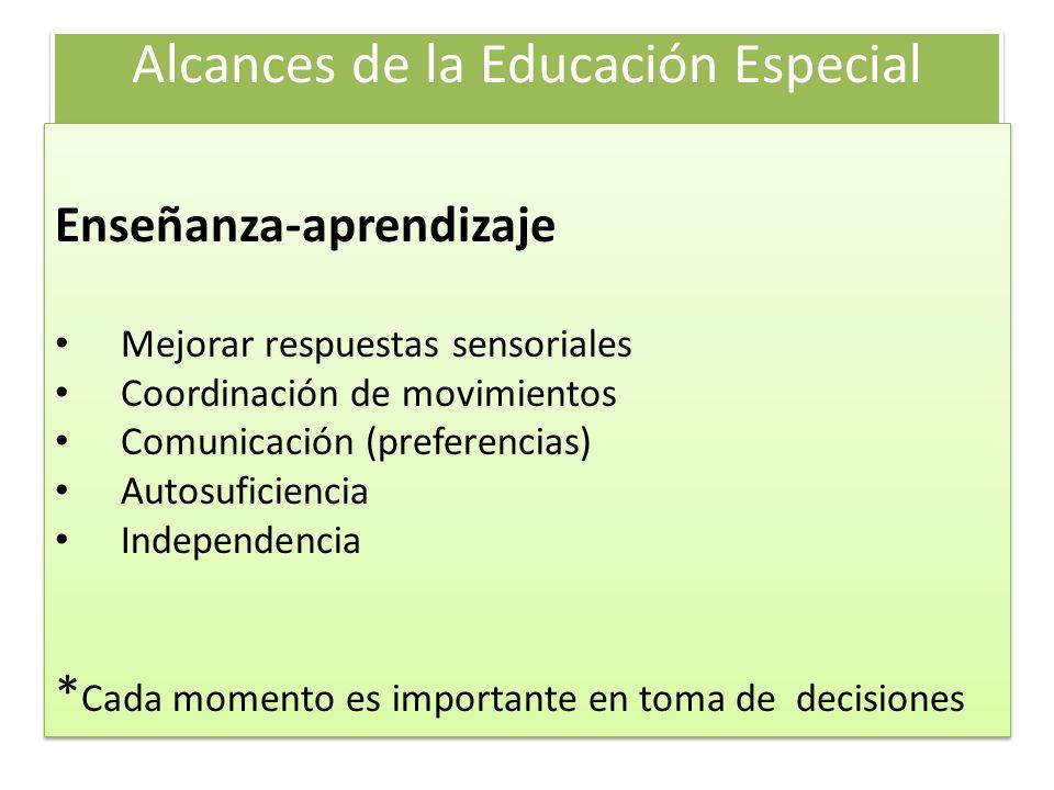 Alcances de la Educación Especial