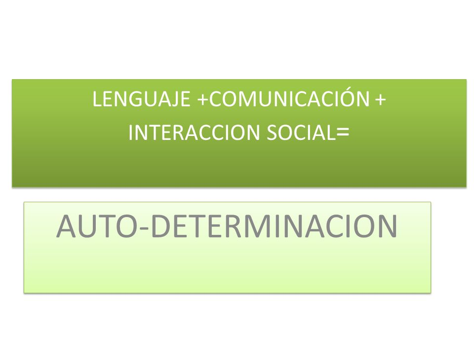 LENGUAJE +COMUNICACIÓN + INTERACCION SOCIAL=