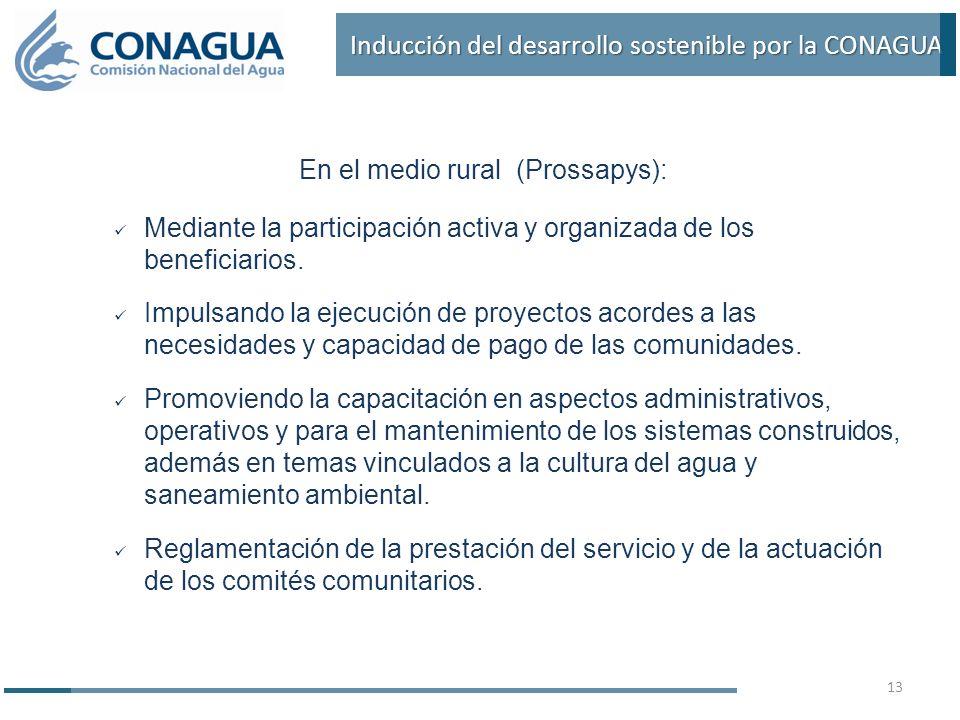 Inducción del desarrollo sostenible por la CONAGUA