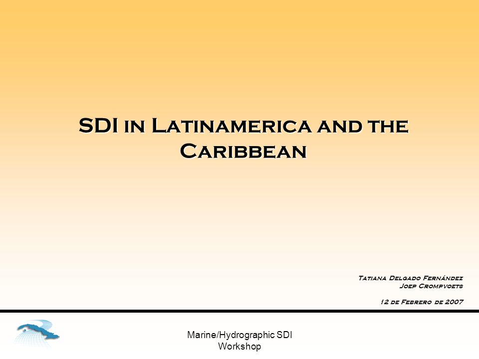 SDI in Latinamerica and the Caribbean