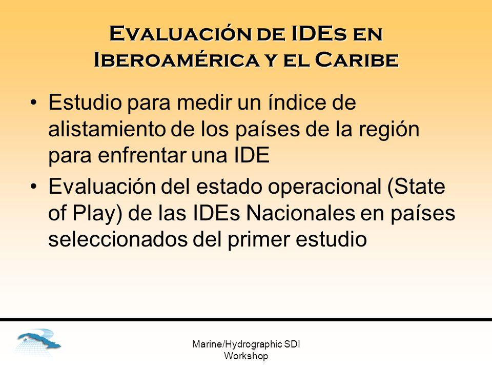 Evaluación de IDEs en Iberoamérica y el Caribe