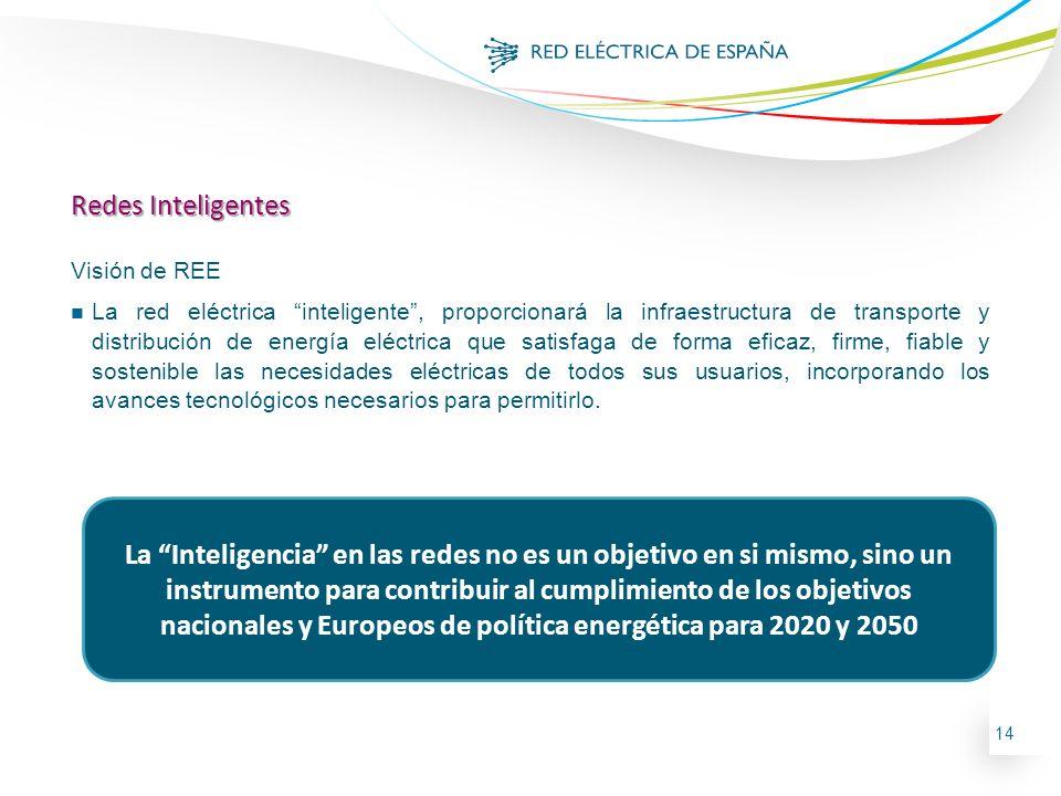 Redes Inteligentes Visión de REE.