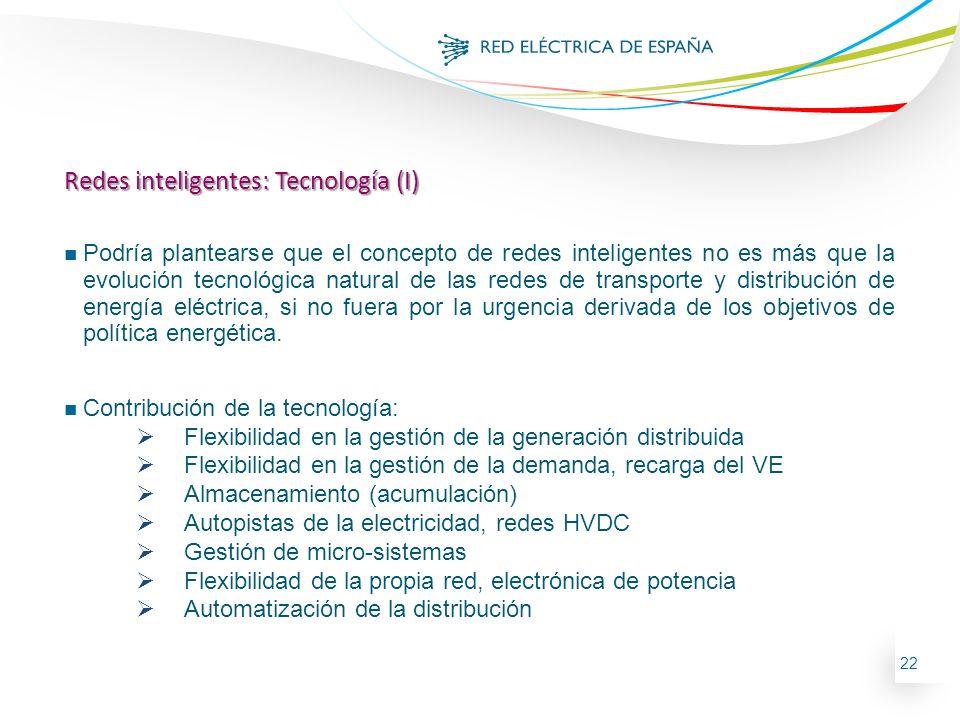 Redes inteligentes: Tecnología (I)