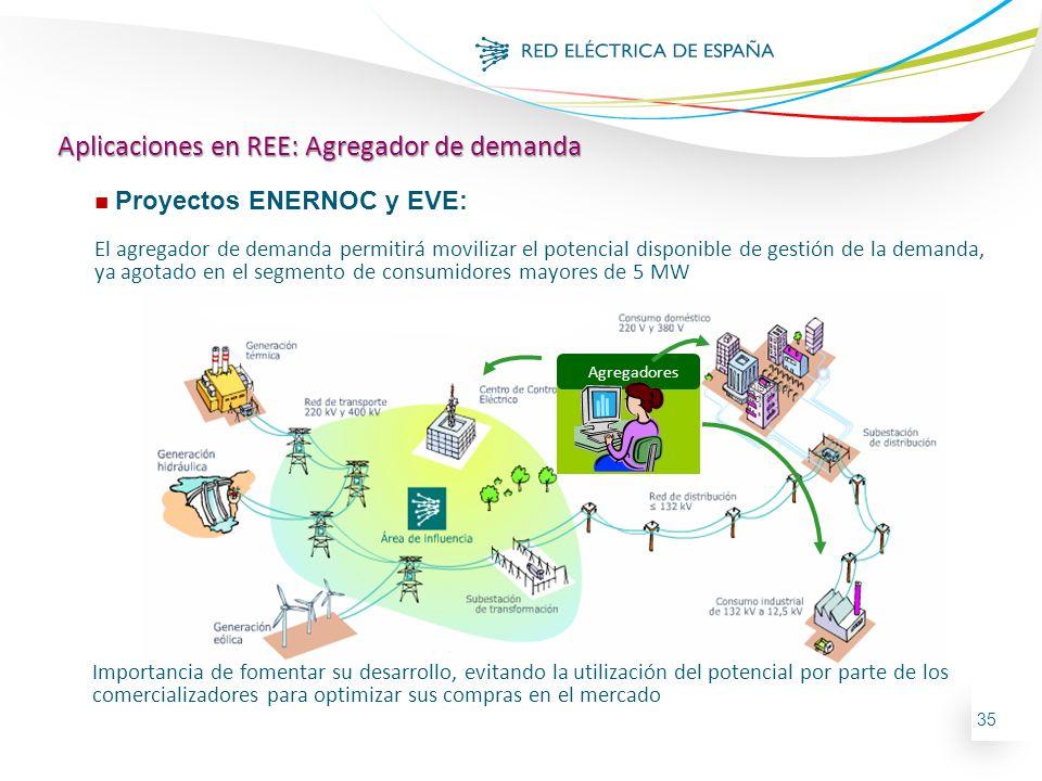 Aplicaciones en REE: Agregador de demanda
