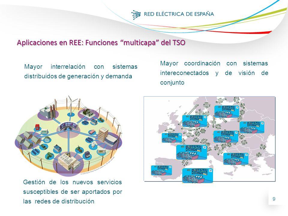 Aplicaciones en REE: Funciones multicapa del TSO