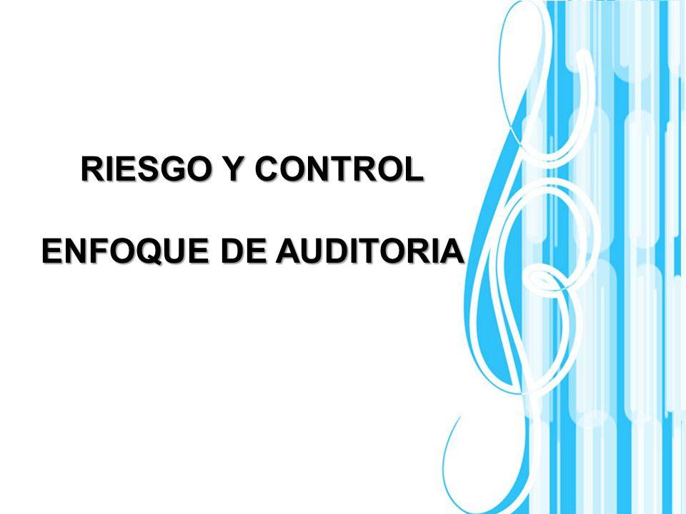 RIESGO Y CONTROL ENFOQUE DE AUDITORIA