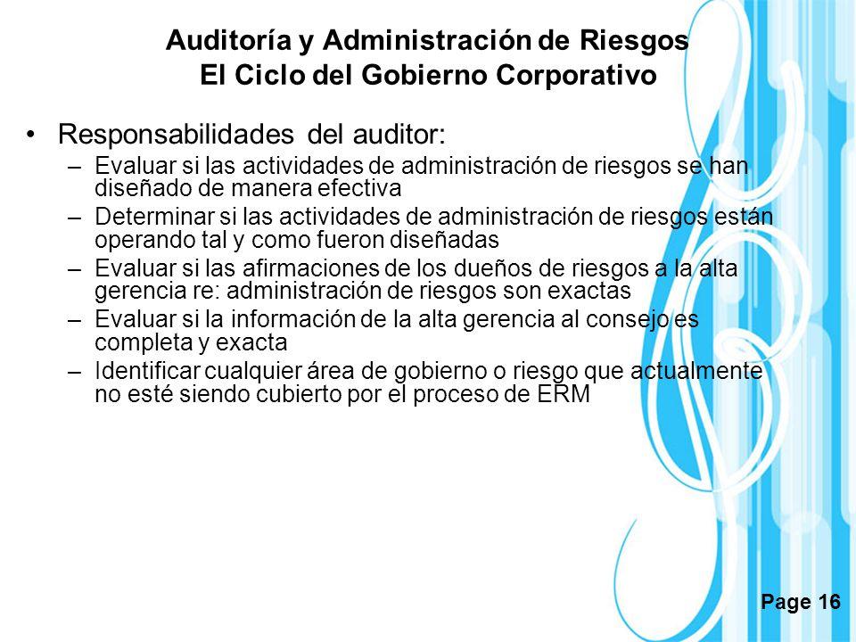 Responsabilidades del auditor: