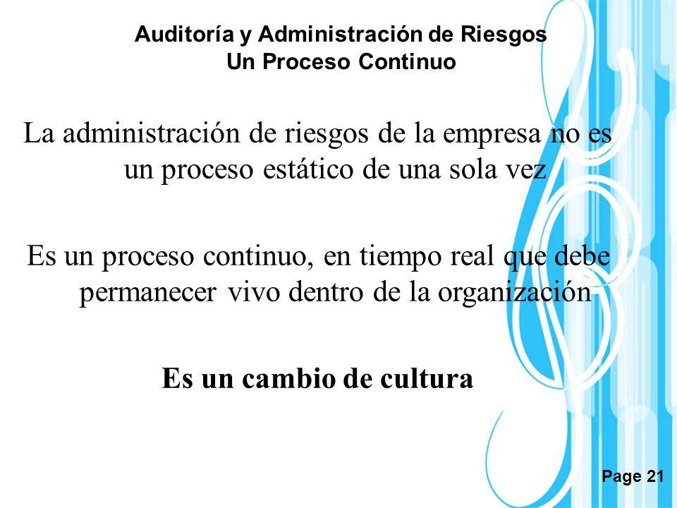 Auditoría y Administración de Riesgos Un Proceso Continuo