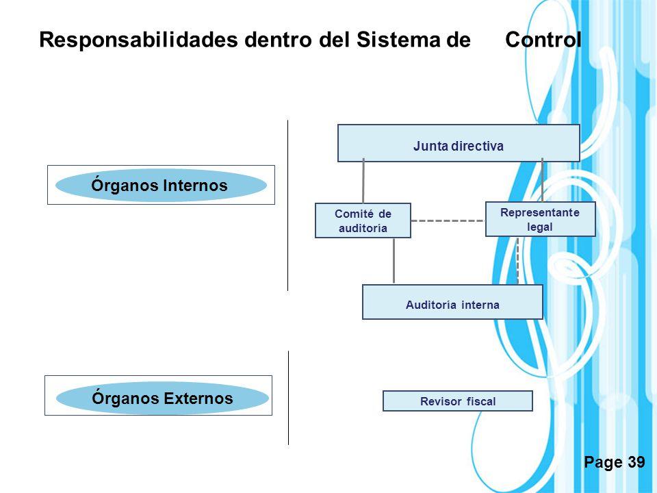 Responsabilidades dentro del Sistema de Control