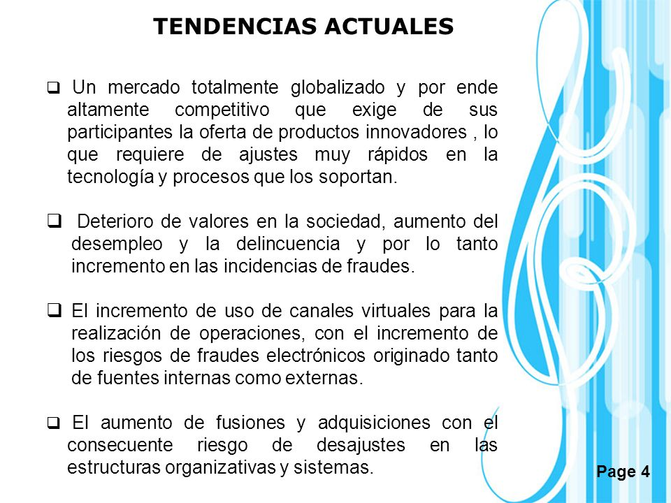 TENDENCIAS ACTUALES