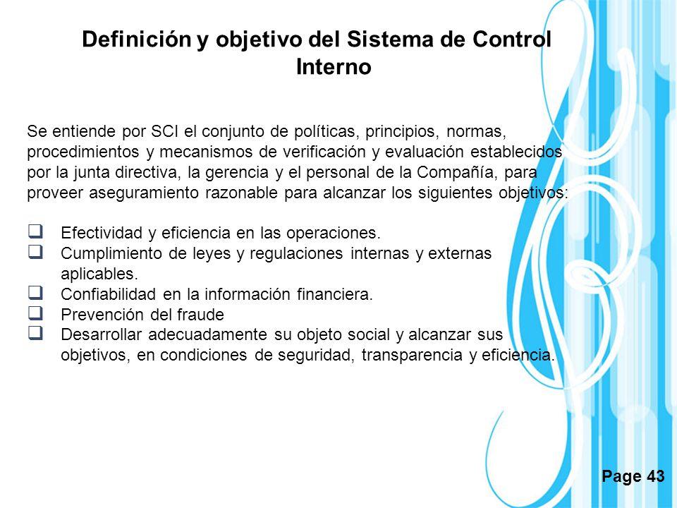 Definición y objetivo del Sistema de Control Interno