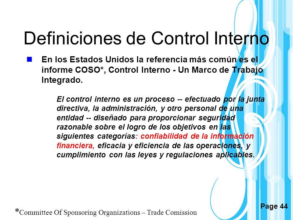 Definiciones de Control Interno