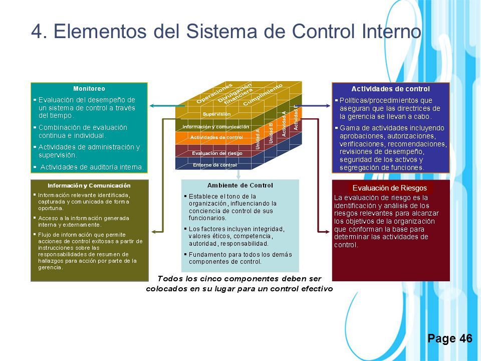 4. Elementos del Sistema de Control Interno
