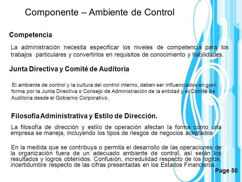 Junta Directiva y Comité de Auditoria