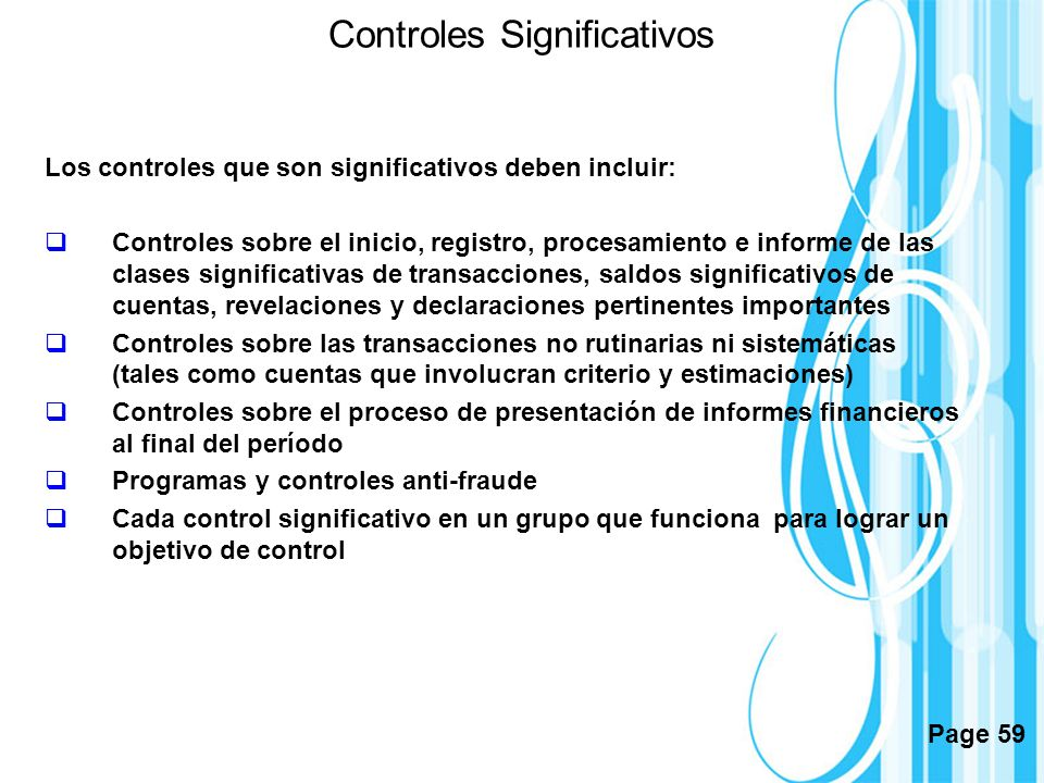 Controles Significativos