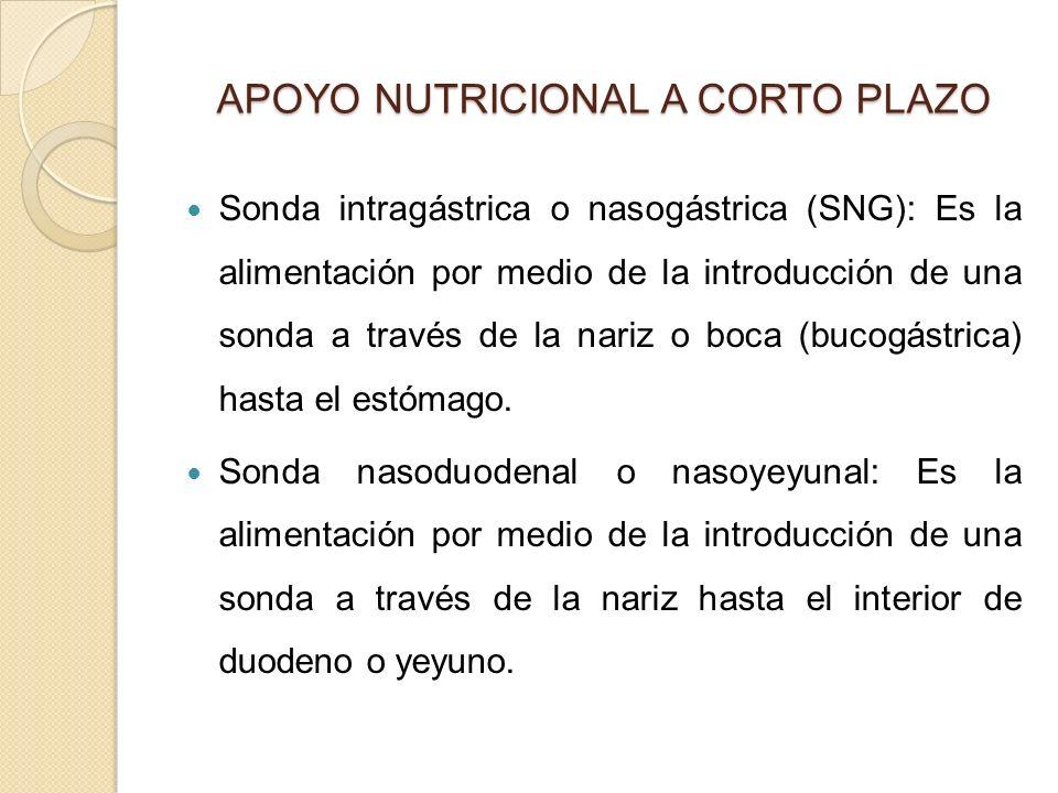 APOYO NUTRICIONAL A CORTO PLAZO