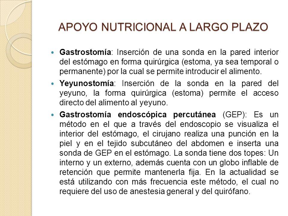 APOYO NUTRICIONAL A LARGO PLAZO
