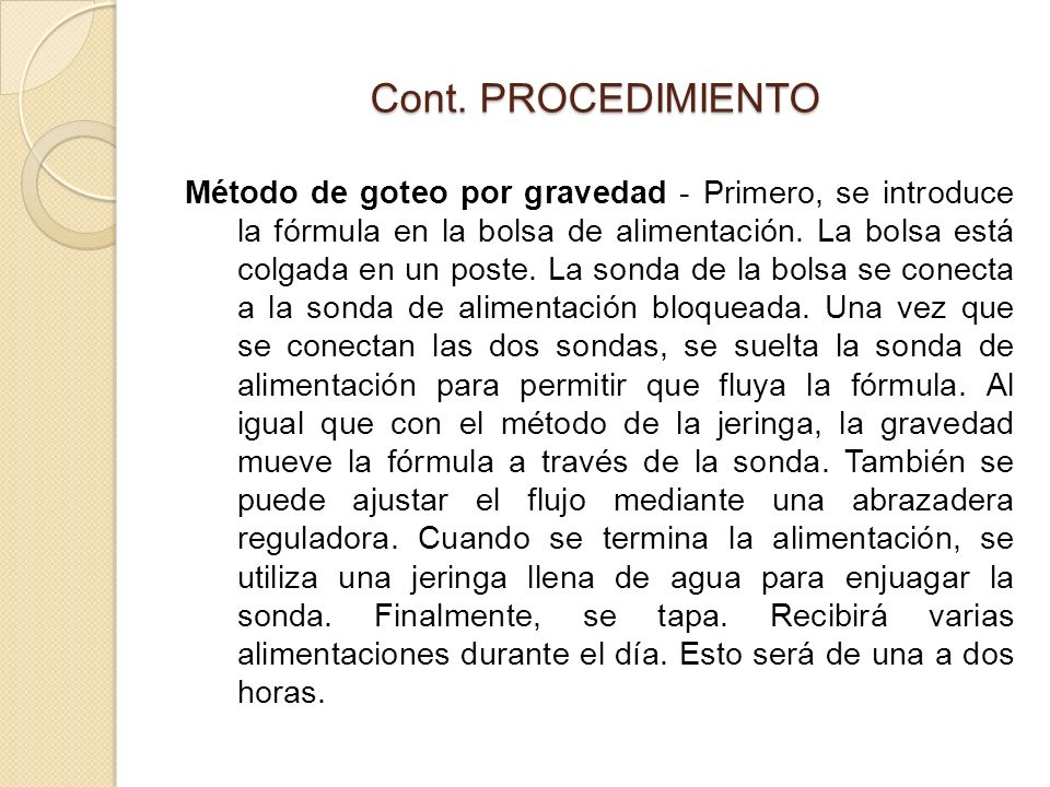 Cont. PROCEDIMIENTO