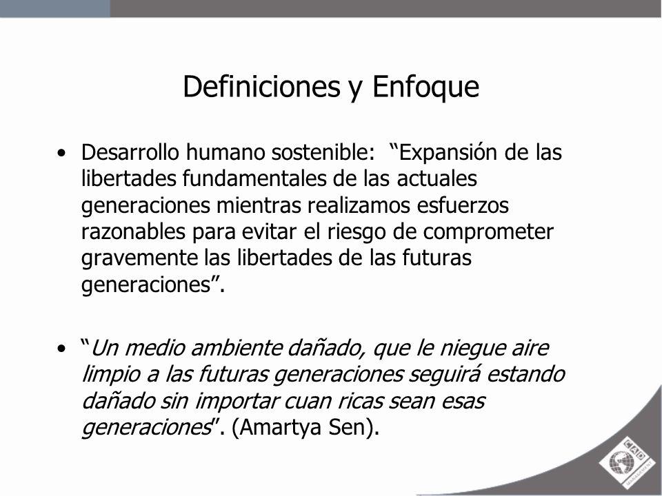 Definiciones y Enfoque