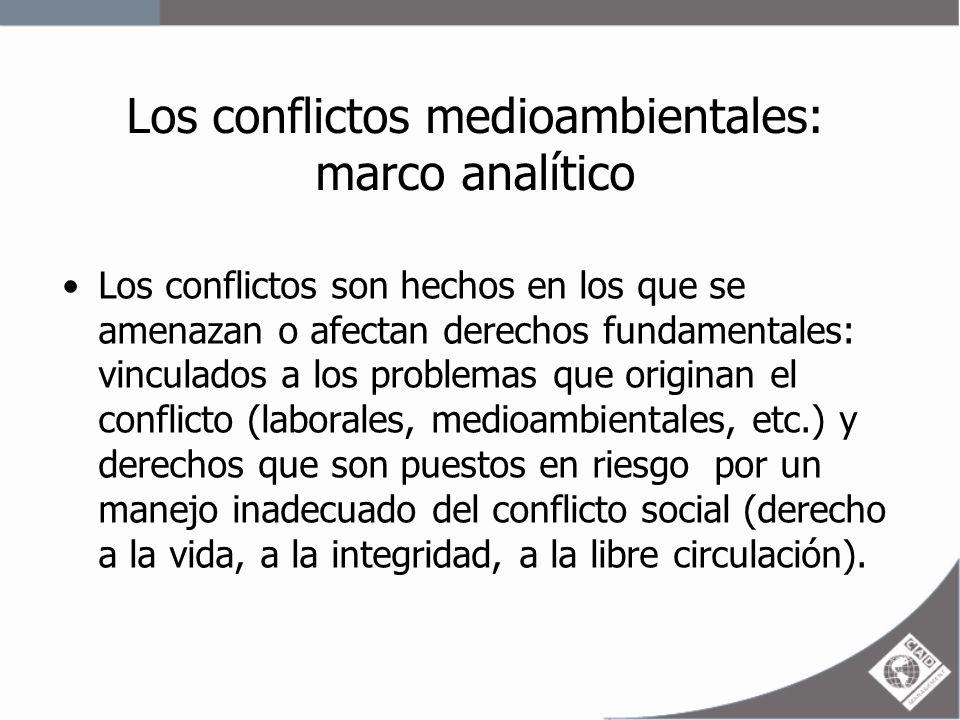 Los conflictos medioambientales: marco analítico