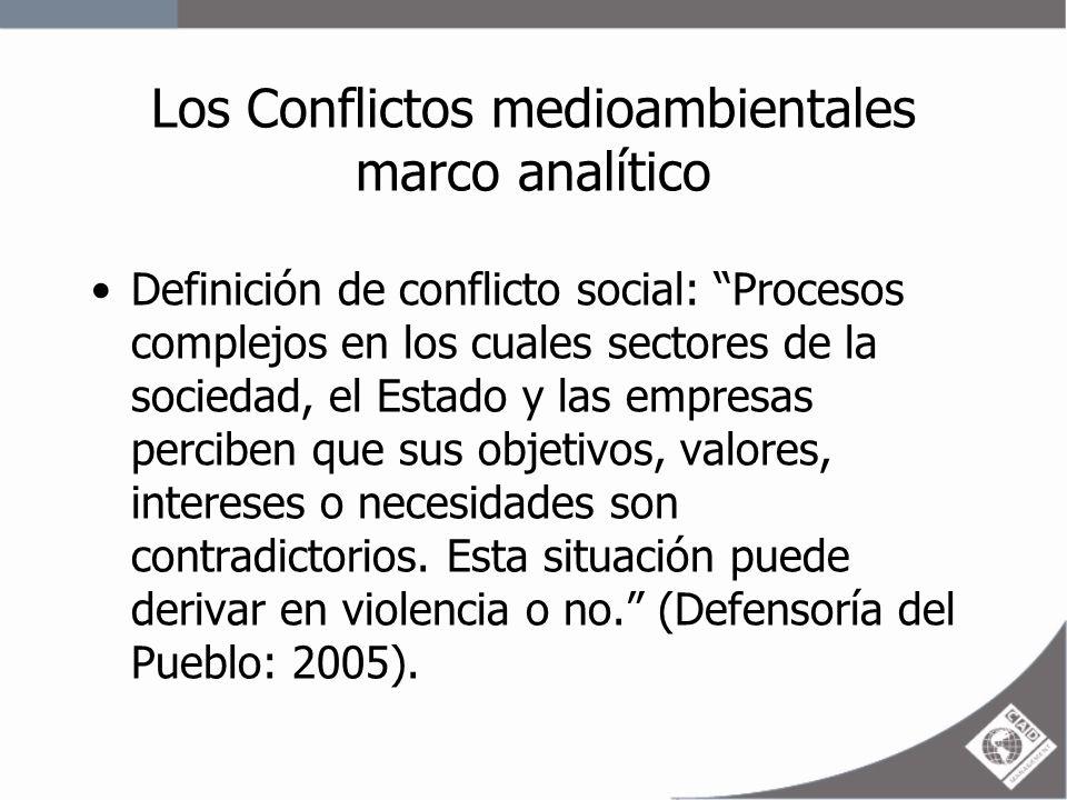 Los Conflictos medioambientales marco analítico