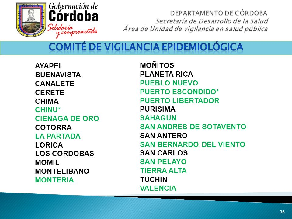COMITÉ DE VIGILANCIA EPIDEMIOLÓGICA