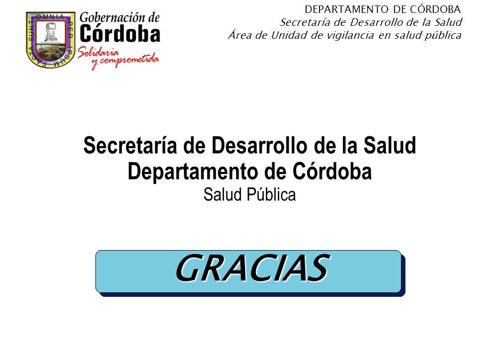 Secretaría de Desarrollo de la Salud Departamento de Córdoba